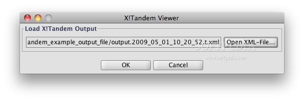XTandem Parser screenshot 1 - Selecting an XML file