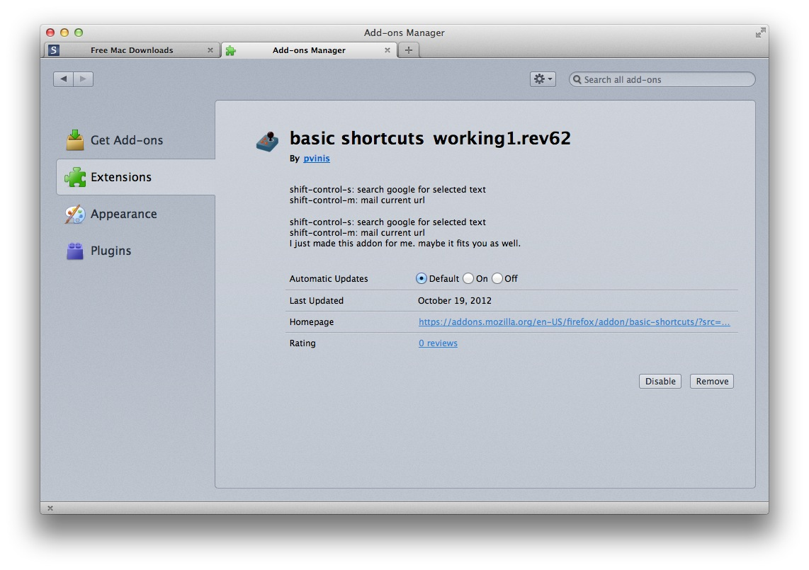 basic shortcuts screenshot 1