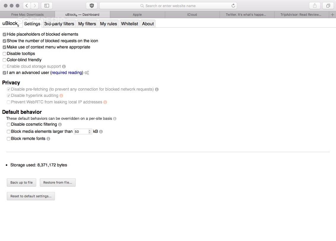 uBlock Origin Mac 1 21 6 - Download