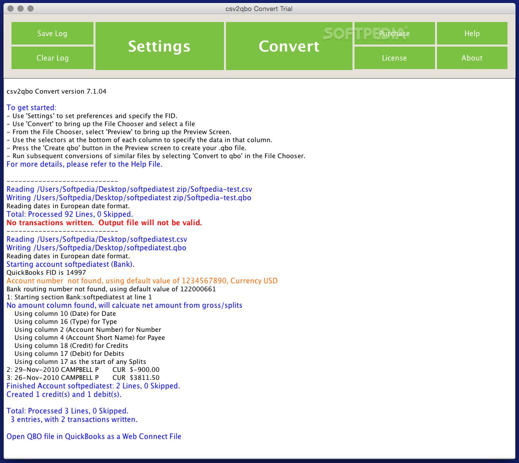 csv2qbo Convert Mac 12 3 01 - Download