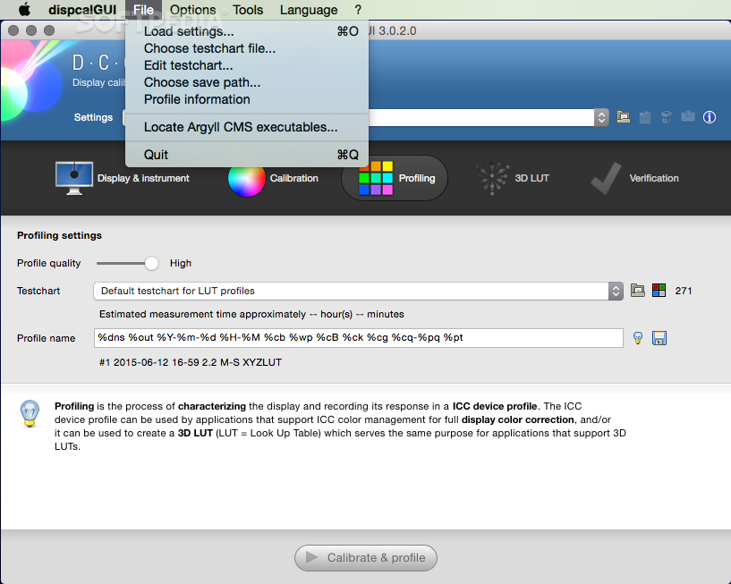 DisplayCAL (formerly dispcalGUI) Mac 3 8 2 - Download