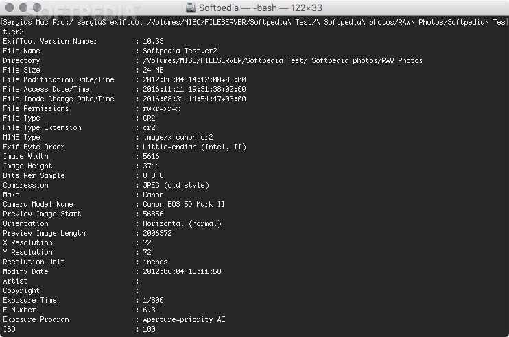 ExifTool Mac 11 65 - Download