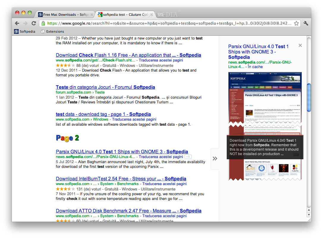 gInfinity screenshot 1 - The Google result window will be endless.