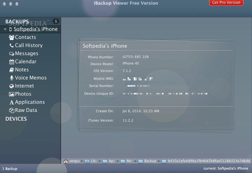 iBackup Viewer Mac 4 1540 - Download