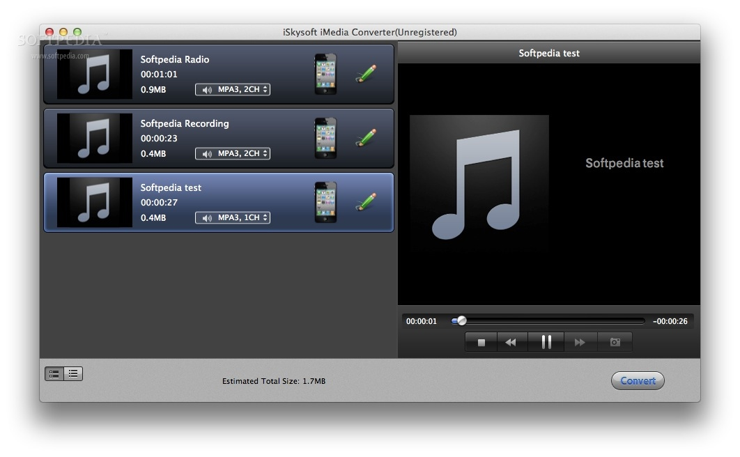 iSkysoft iMedia Converter screenshot 1 - You will be able to convert and / or edit audio, video or DVD images.
