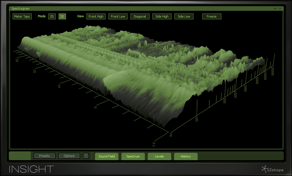 Insight screenshot 3 - The spectrogram provides a 2D or 3D view of waveforms.
