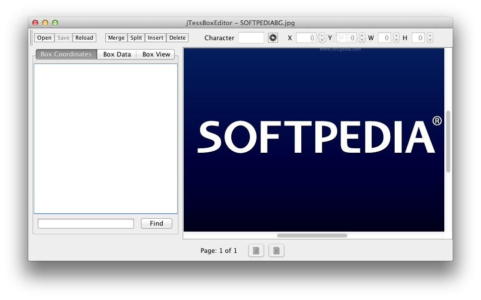 jTessBoxEditor Mac 1 5 - Download
