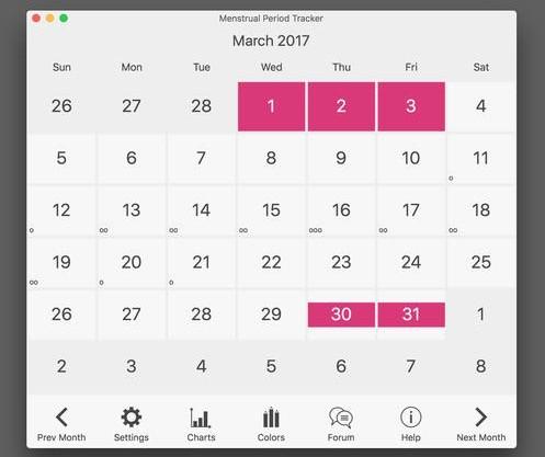 Menstrual Cycle Calendar.Menstrual Period Tracker And Ovulation Calendar Mac 5 9 6 Download