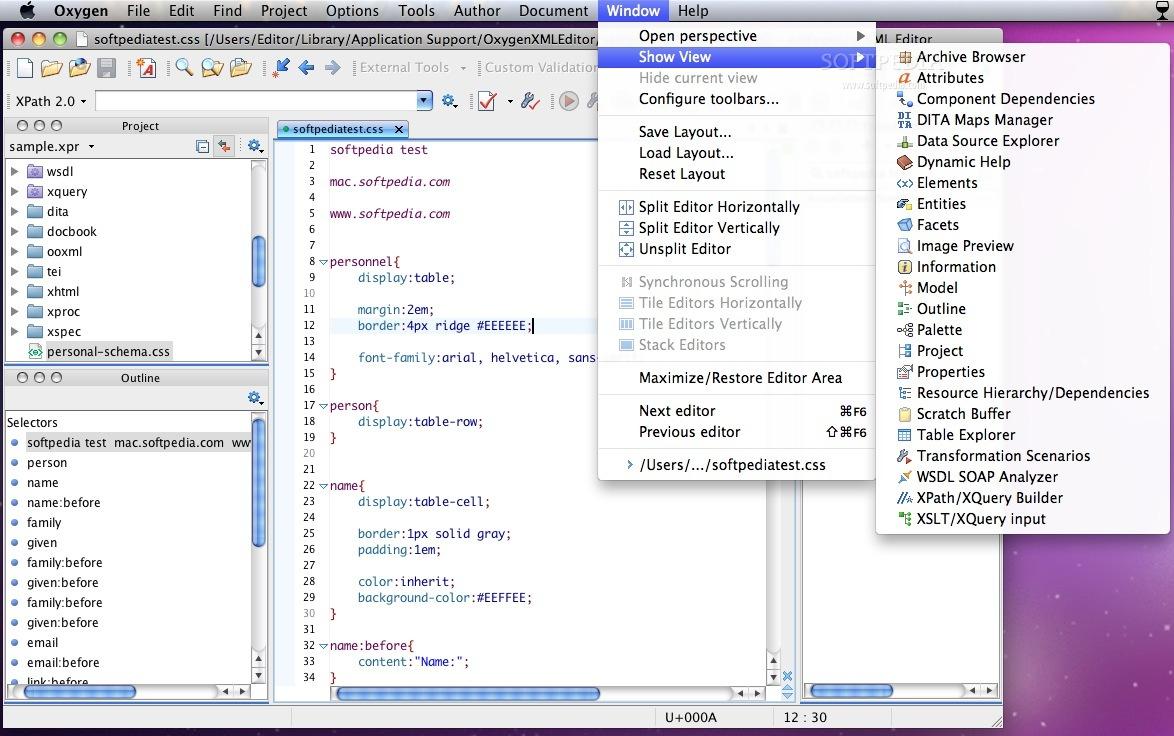 oXygen XML Editor Mac 18 1 Build 2017013018 - Download