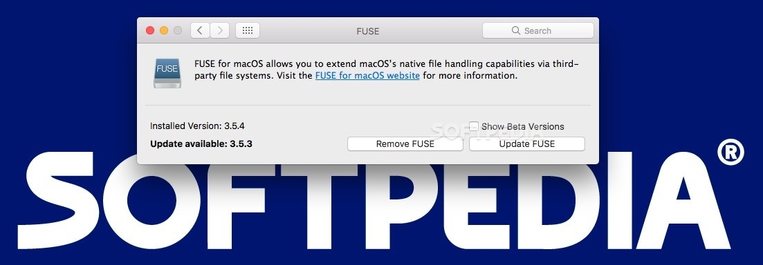 FUSE for macOS (formerly OSXFUSE) 3 10 2 - Download