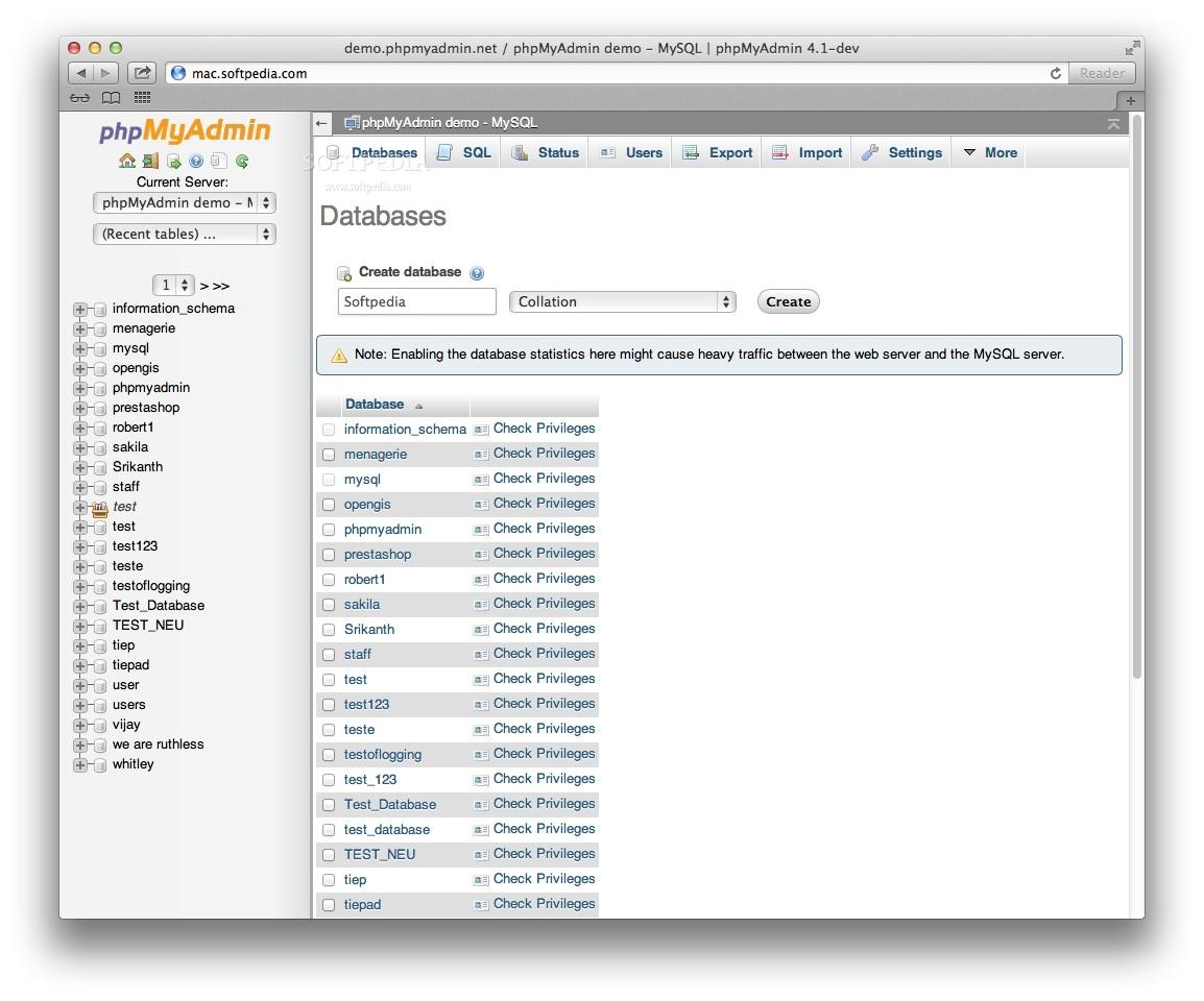 phpMyAdmin Mac 4 9 0 1 - Download
