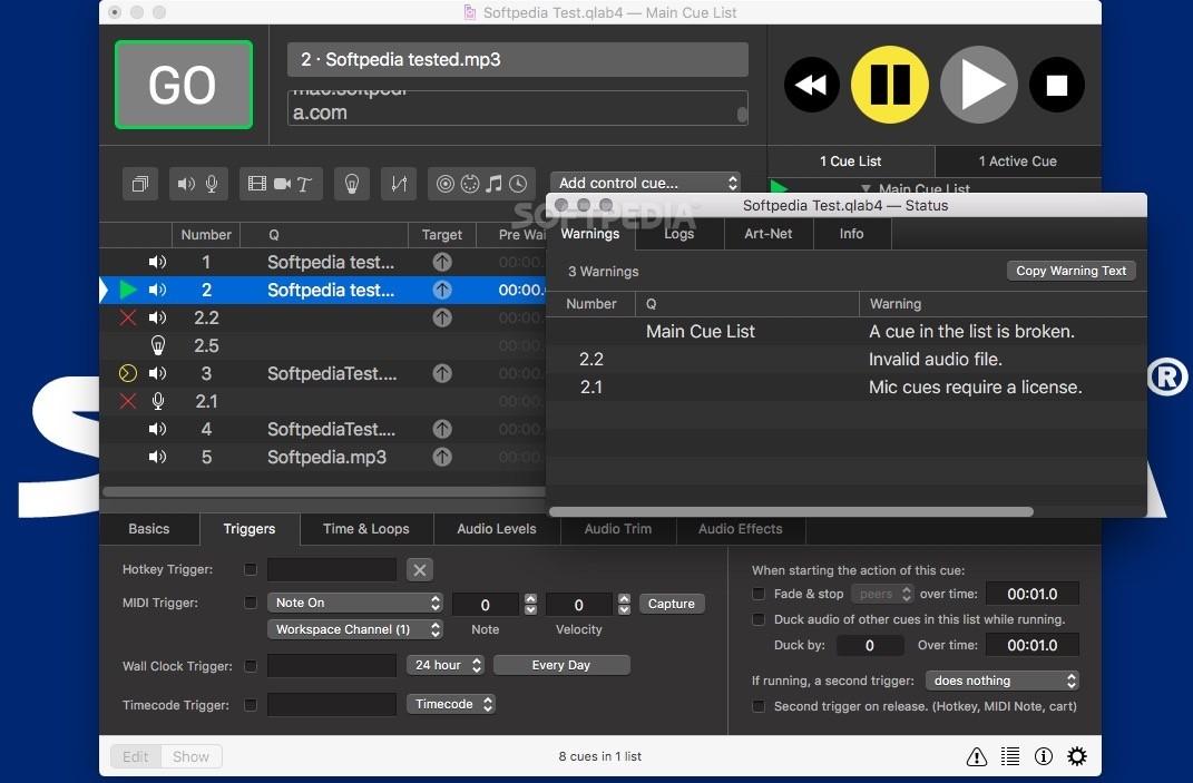 Qlab Adjust Volume