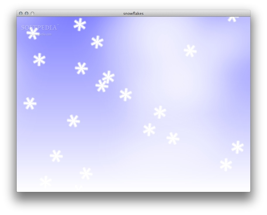 snowflakes screenshot 1 - The snowflakes fall gently and the music soothes you.