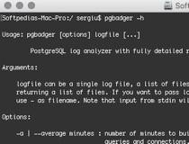 pgBadger Mac 9 2 - Download