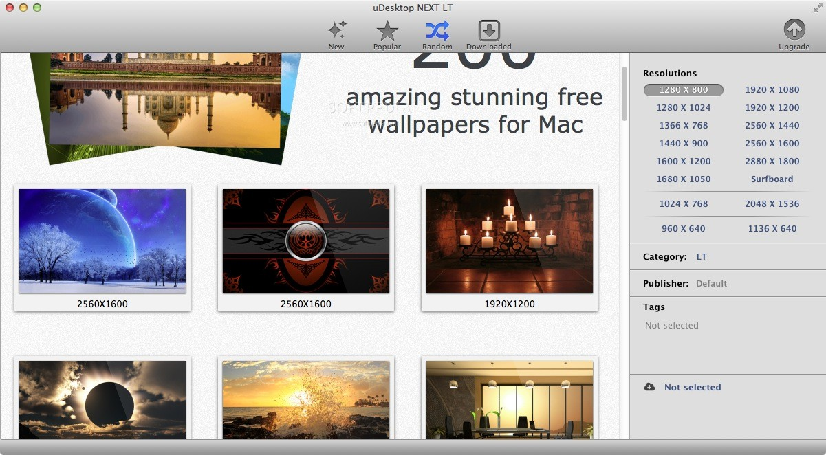 uDesktop HD screenshot 1 - Browse wallpapers by categories.