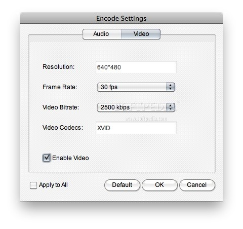 uSeesoft Video to iPad Converter screenshot 6 - Here you can access video settings.