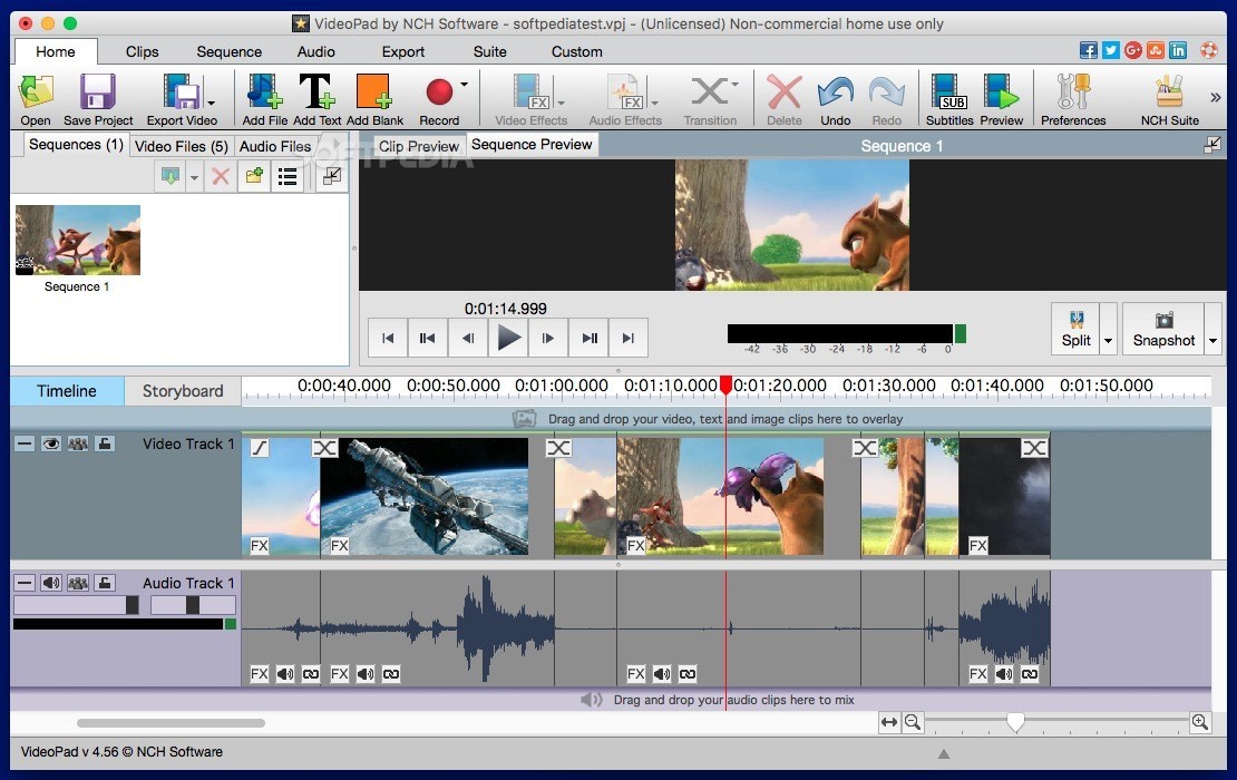 VideoPad Video Editor Mac 8.40 - Download