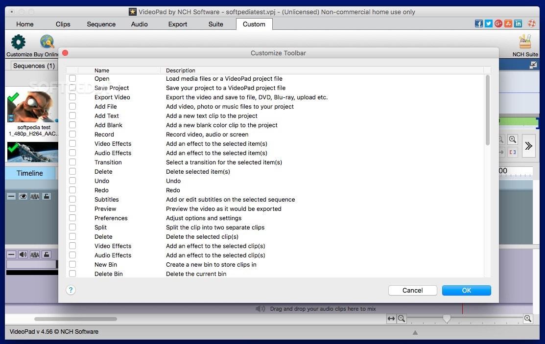 VideoPad Video Editor Mac 7 30 - Download