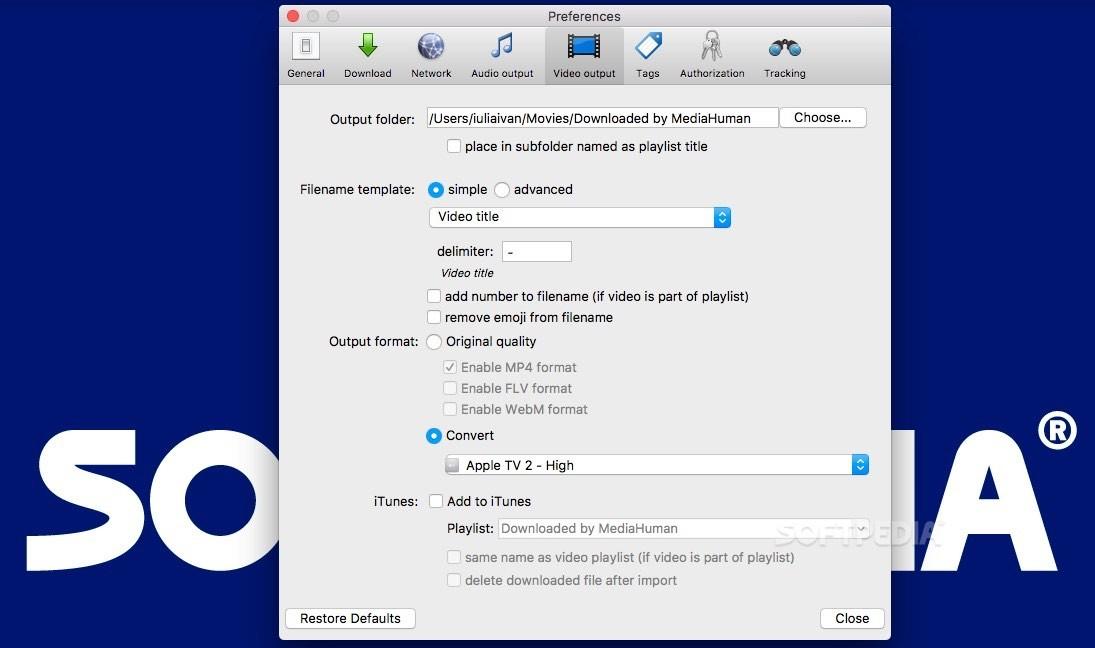 YouTube Downloader Mac 3 9 9 22 - Download